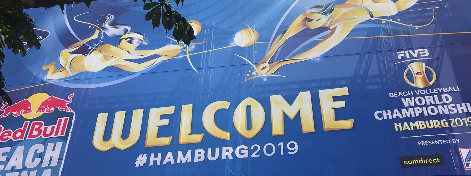 Eingang zum WM Gelände